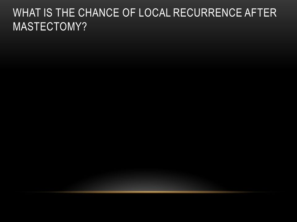 What is the chance of local recurrence after mastectomy