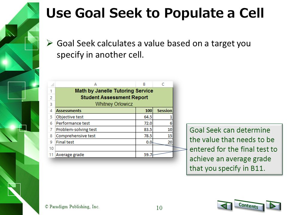 Use Goal Seek to Populate a Cell