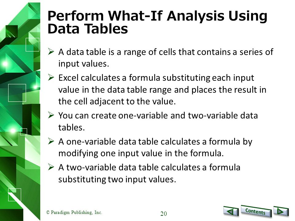 Perform What-If Analysis Using Data Tables