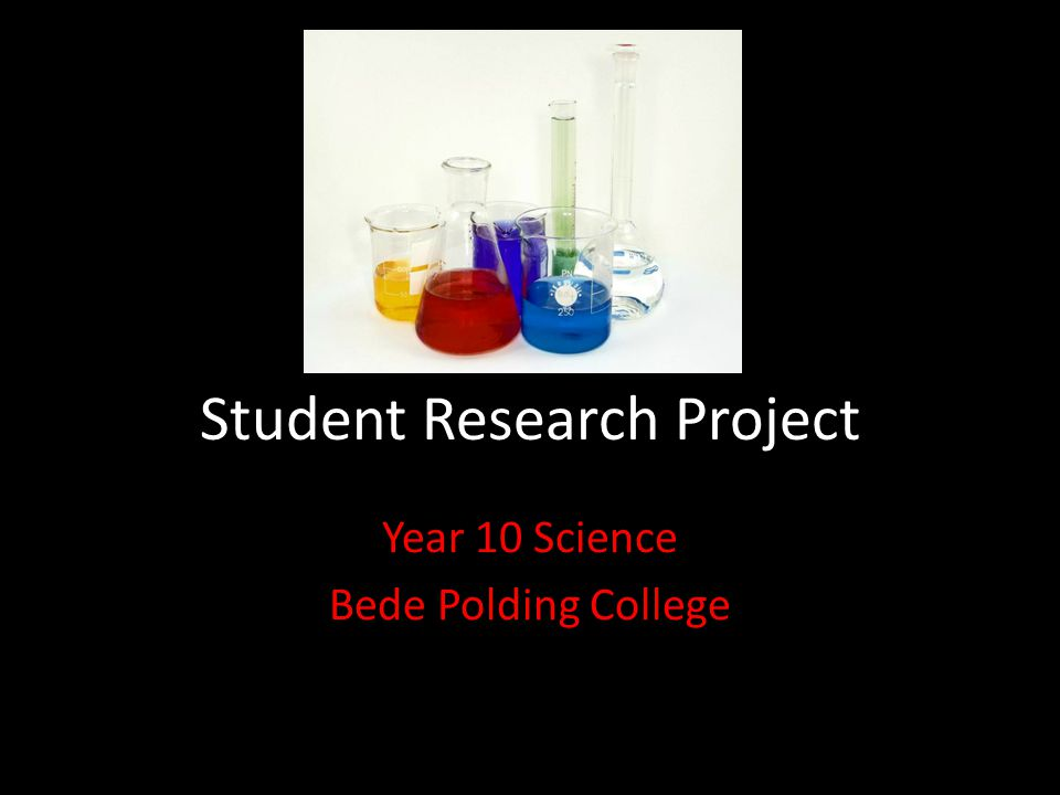 science student research project