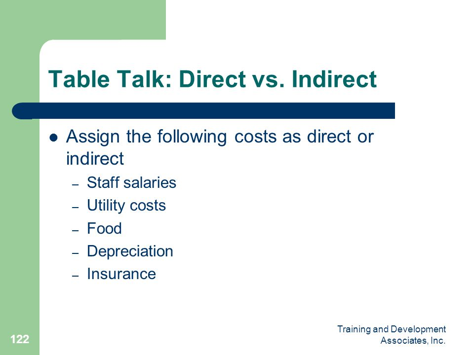 Table Talk: Direct vs. Indirect