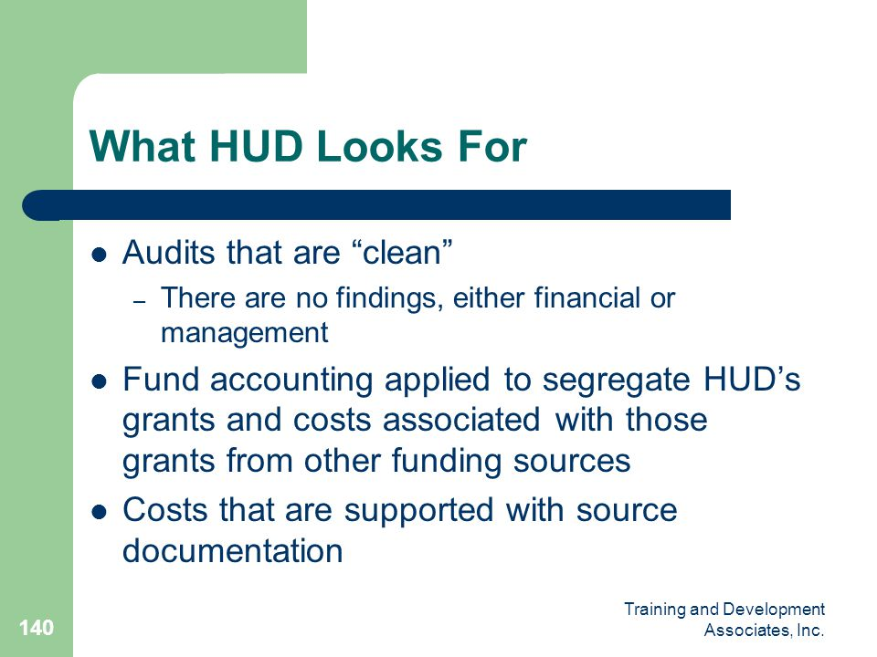 What HUD Looks For Audits that are clean
