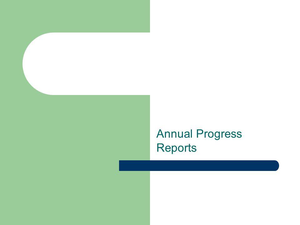 Annual Progress Reports
