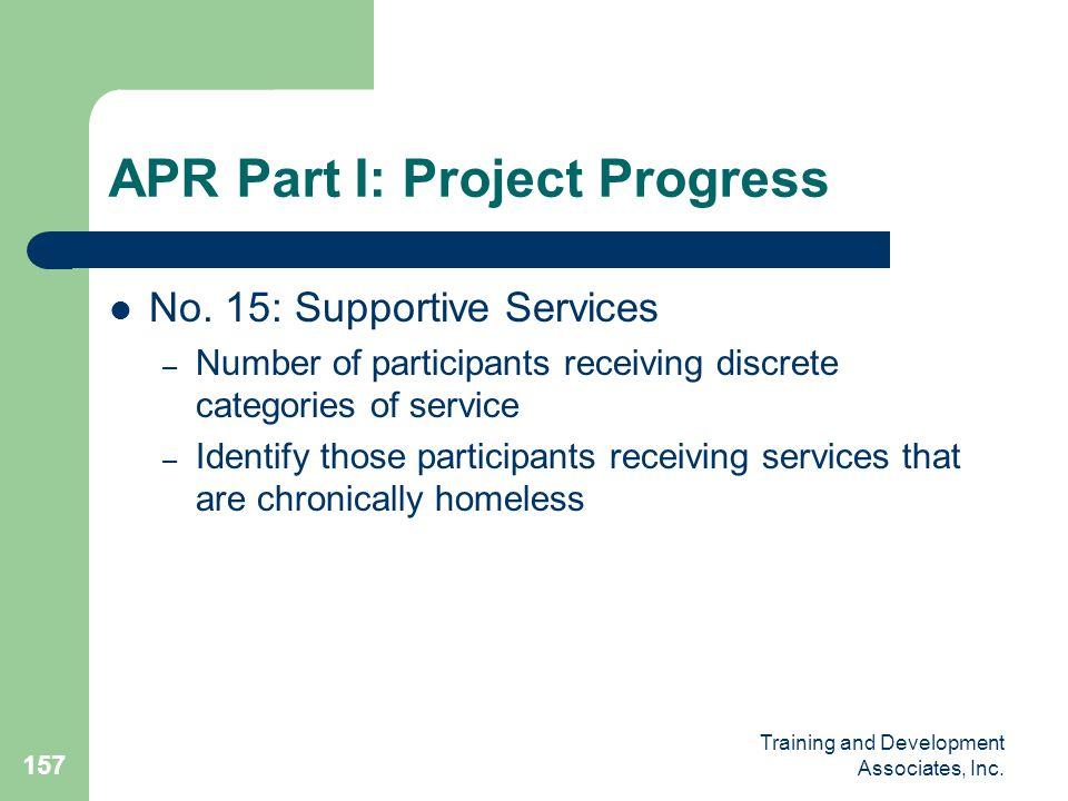 APR Part I: Project Progress