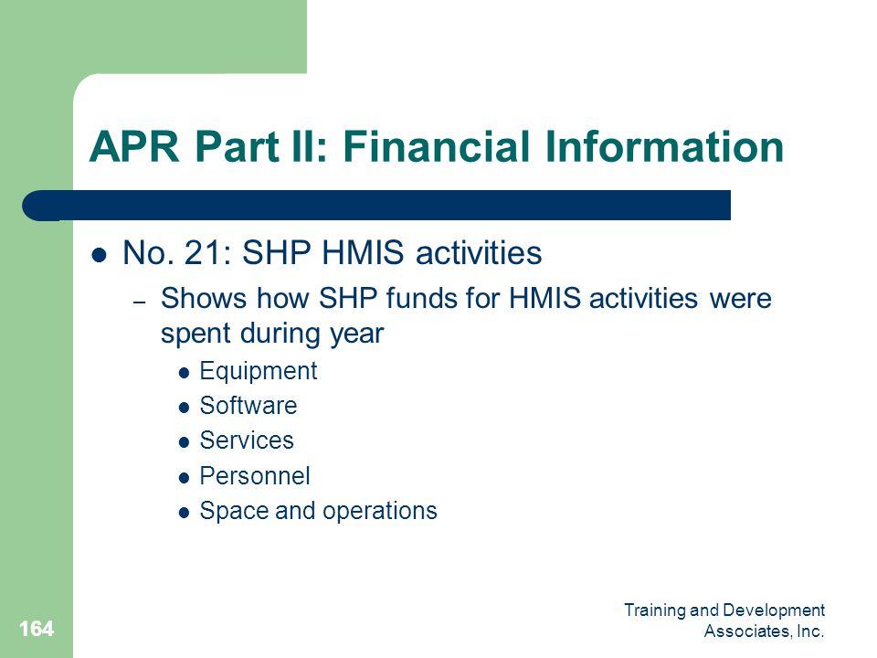 APR Part II: Financial Information