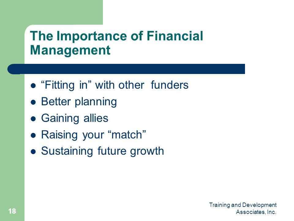 The Importance of Financial Management