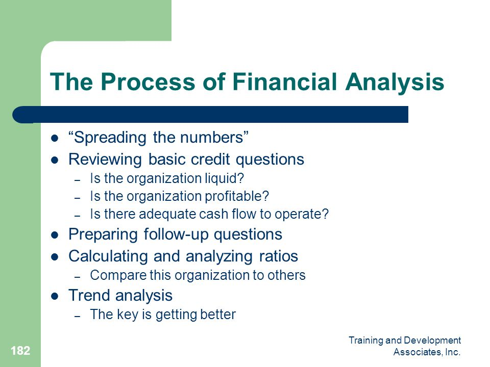 The Process of Financial Analysis