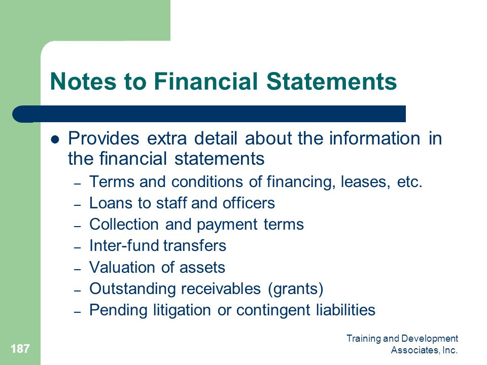 Notes to Financial Statements