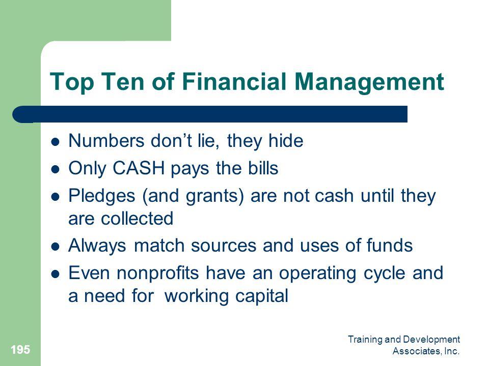Top Ten of Financial Management