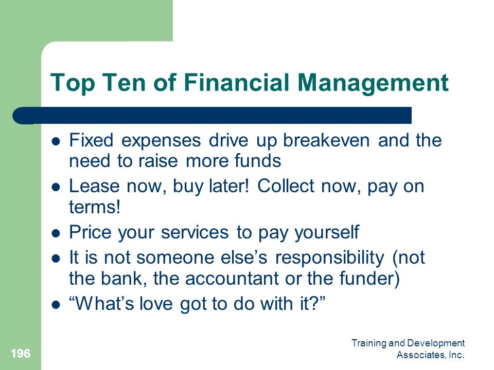Top Ten of Financial Management