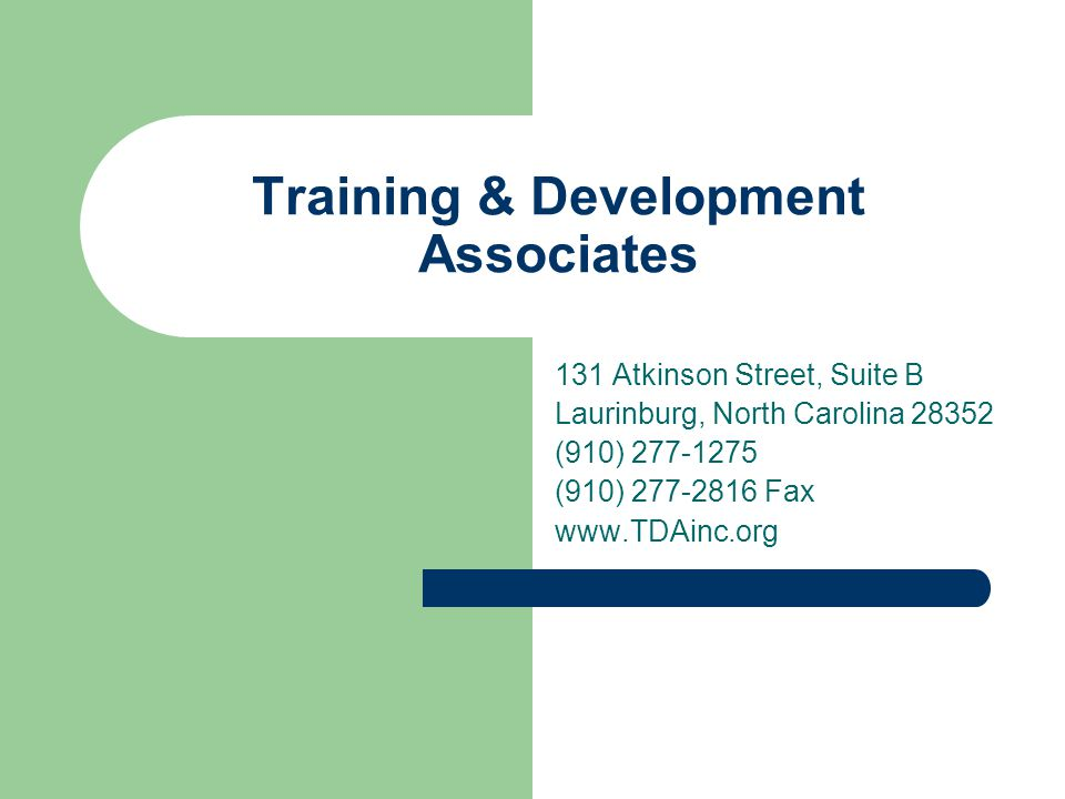 Training & Development Associates