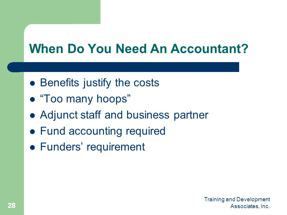 When Do You Need An Accountant