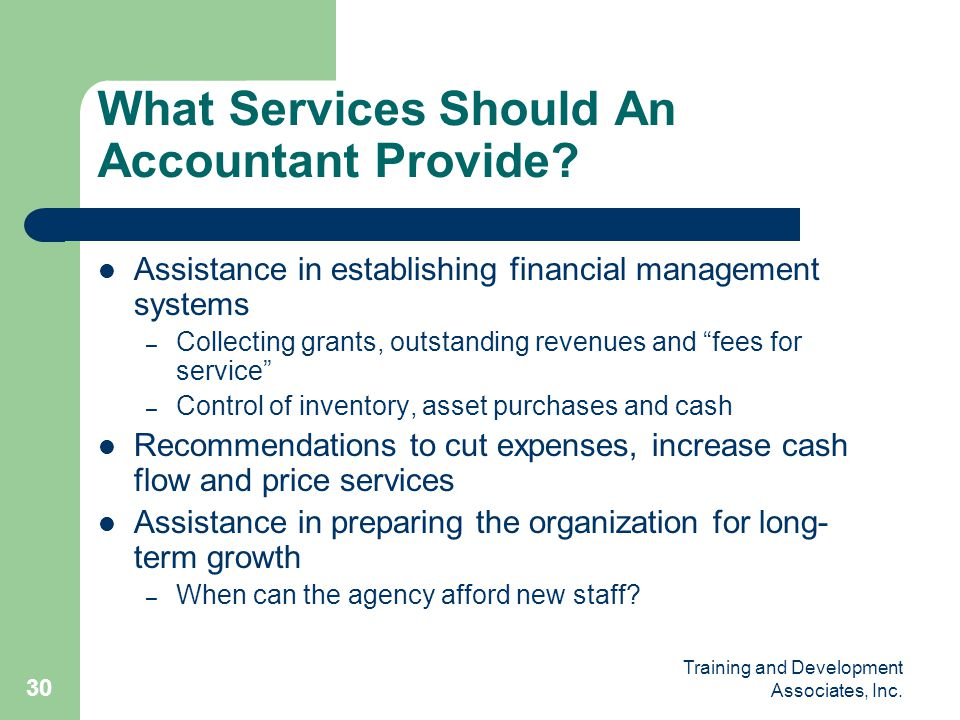 What Services Should An Accountant Provide