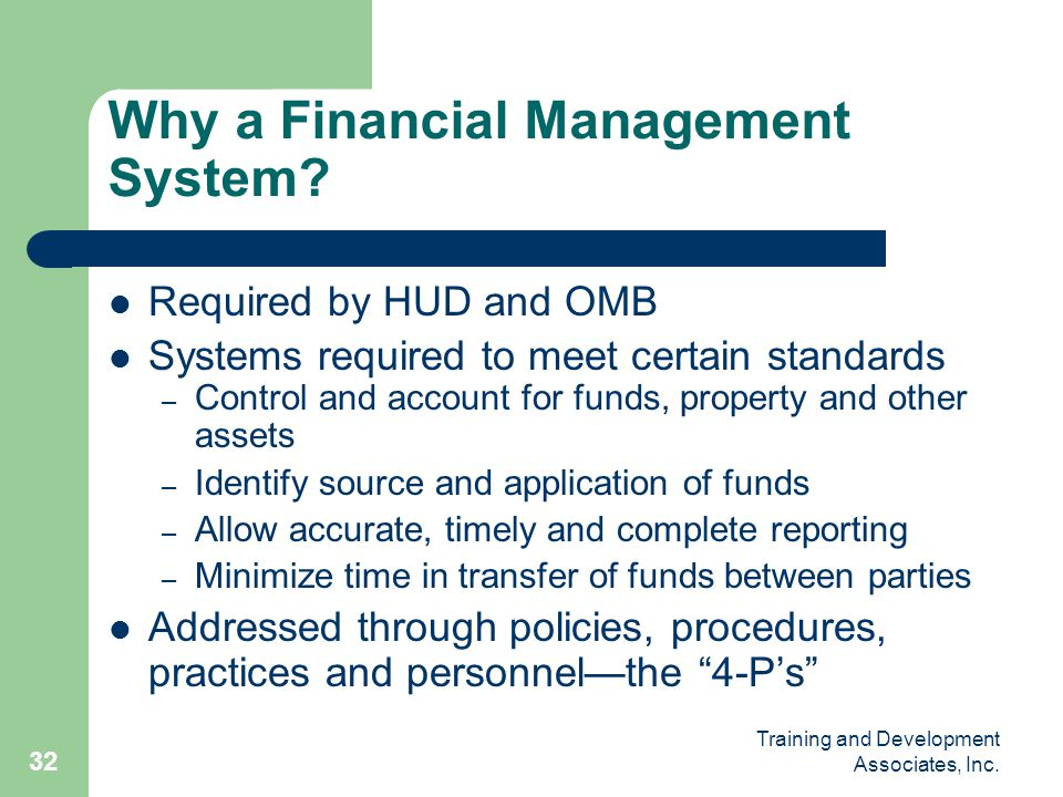 Why a Financial Management System