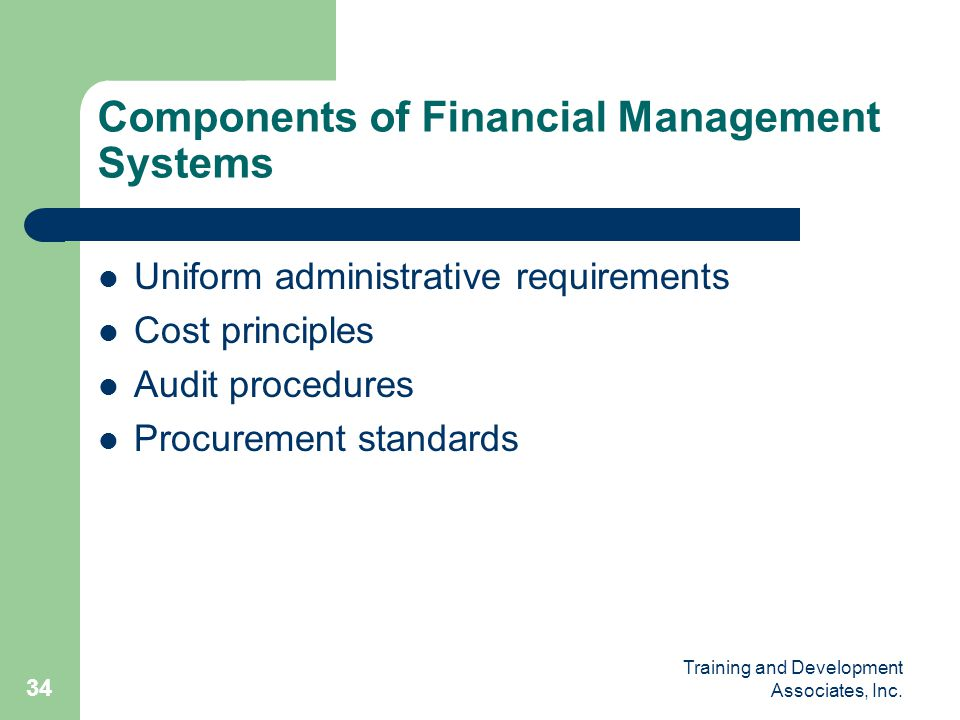 Components of Financial Management Systems