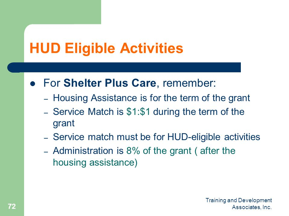 HUD Eligible Activities