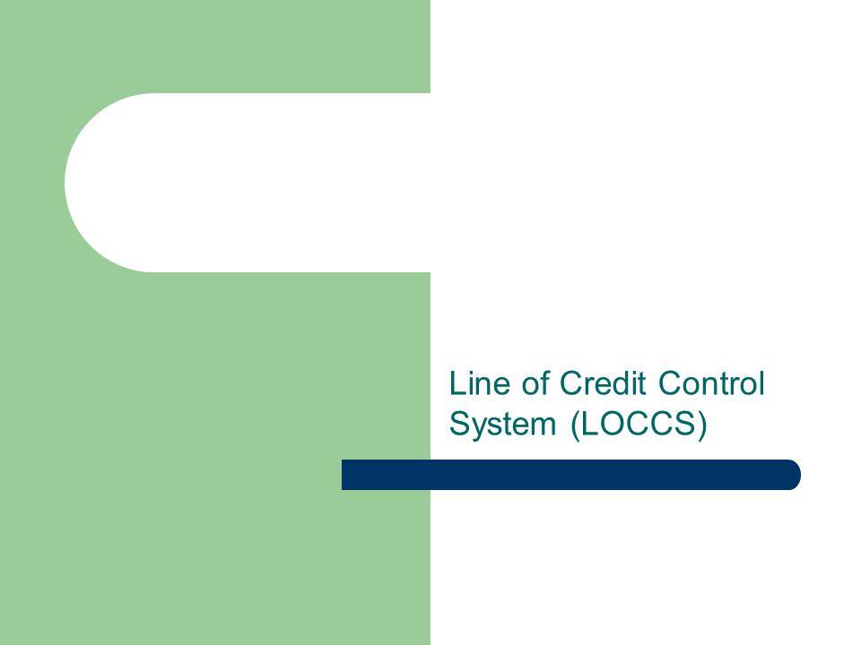 Line of Credit Control System (LOCCS)