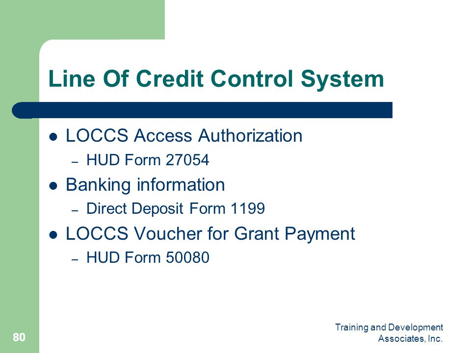 Line Of Credit Control System