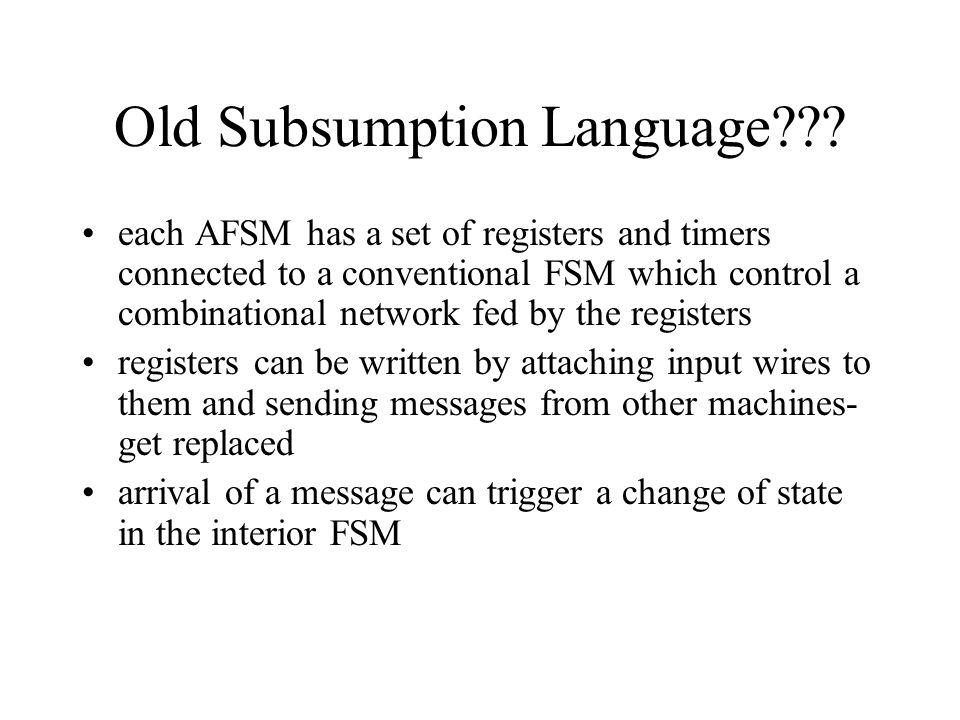 Old Subsumption Language