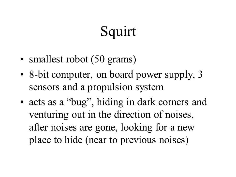 Squirt smallest robot (50 grams)