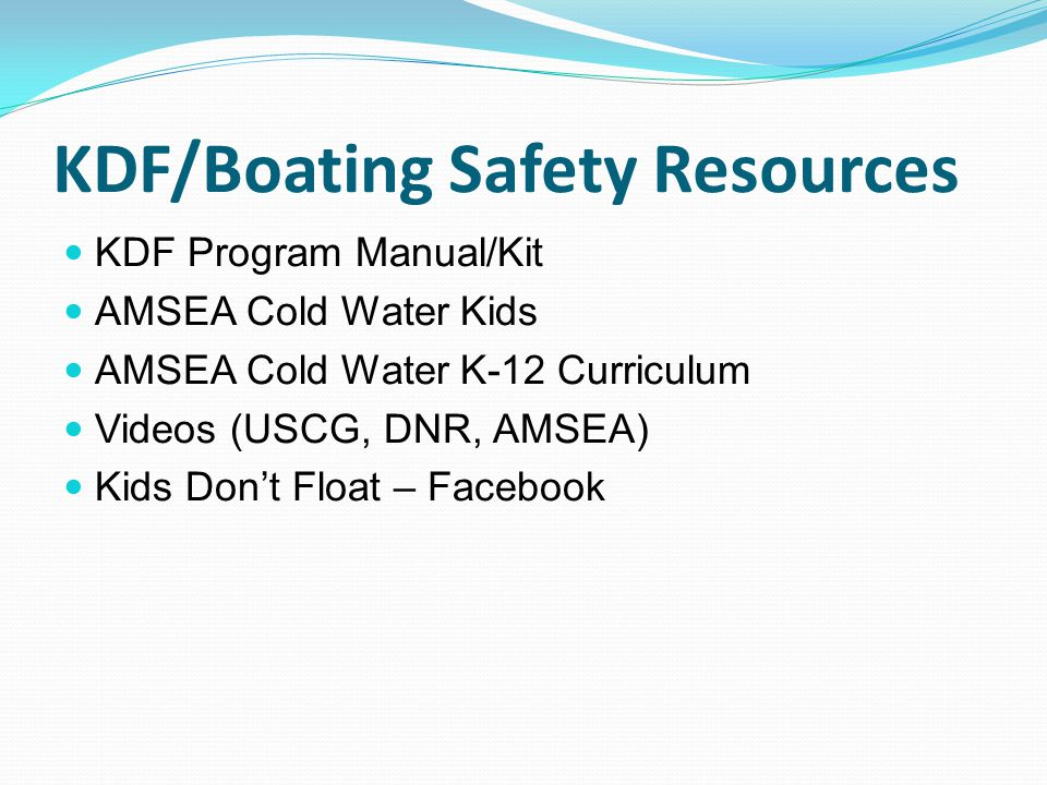 KDF/Boating Safety Resources