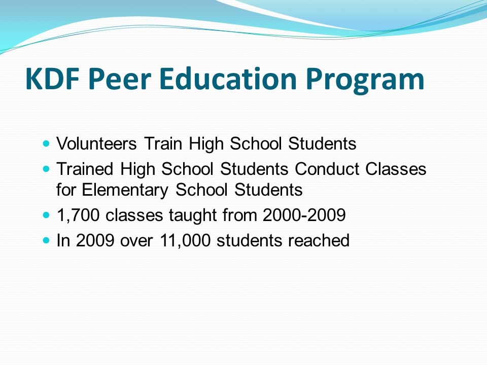 KDF Peer Education Program