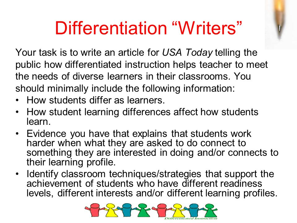 Differentiation Writers