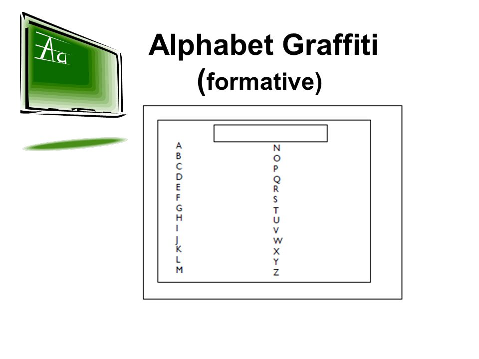 Alphabet Graffiti (formative)