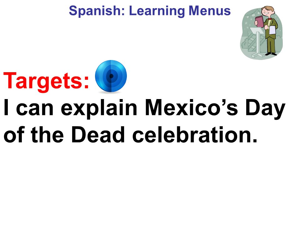 Spanish: Learning Menus