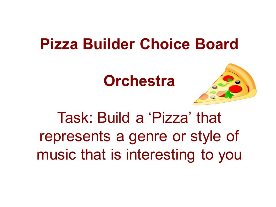 Pizza Builder Choice Board