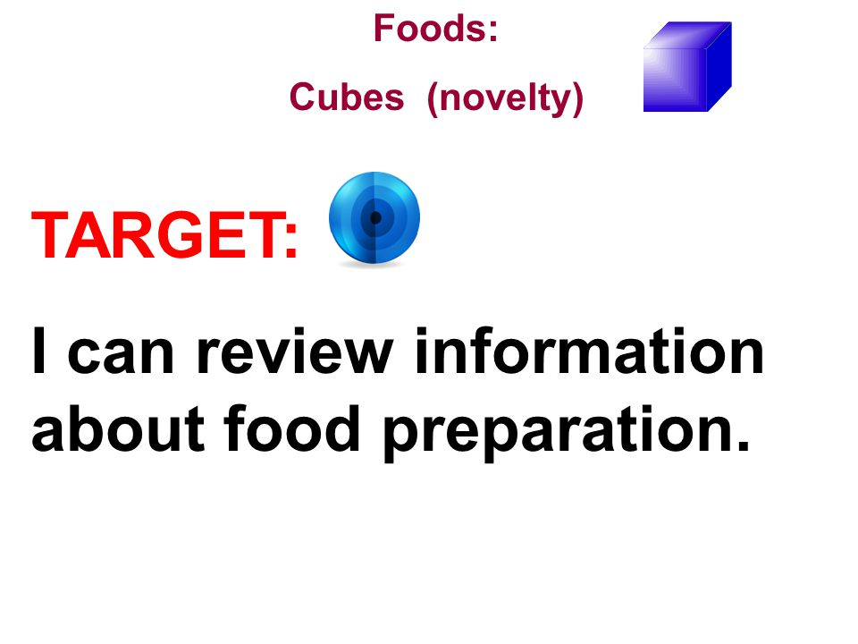 I can review information about food preparation.