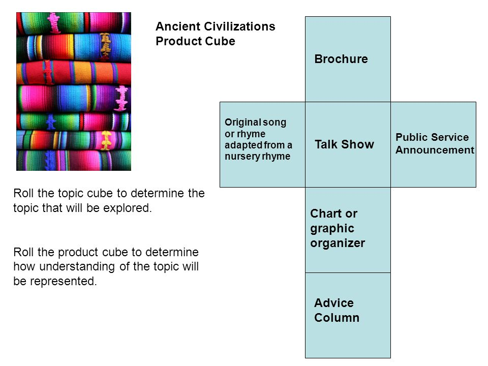 Ancient Civilizations Product Cube