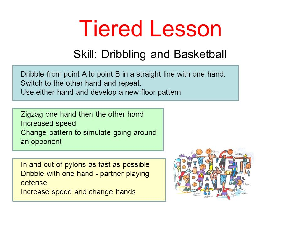 Tiered Lesson Skill: Dribbling and Basketball