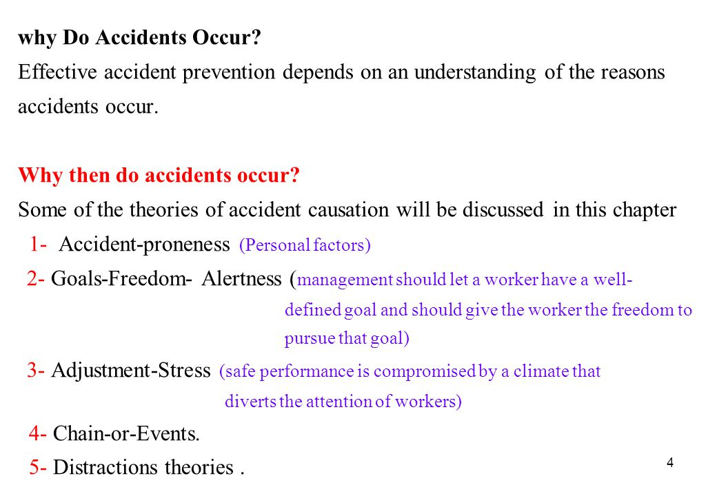 accident causation of neglect of worker well being Read about accidents and their prevention and get accident  but social and emotional well-being  are at high risk of being involved in an accident.