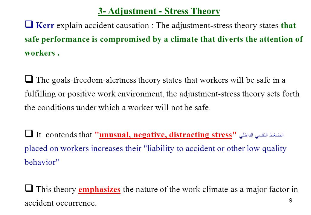 3- Adjustment - Stress Theory