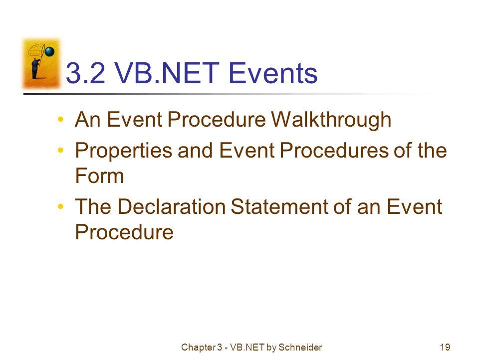 Chapter 3 - VB.NET by Schneider