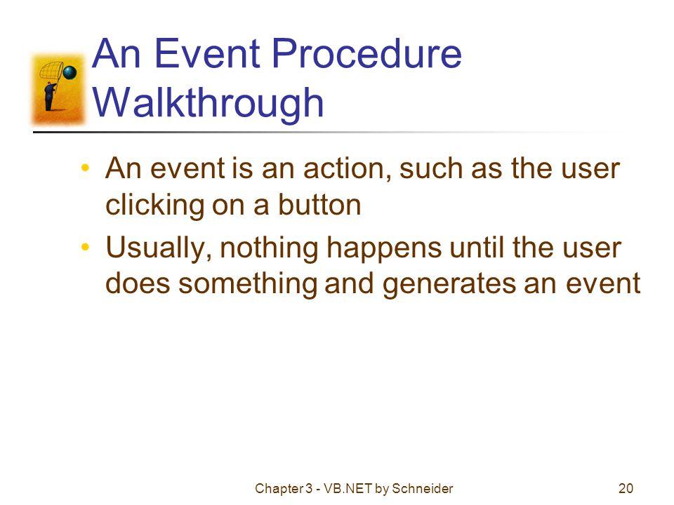 An Event Procedure Walkthrough