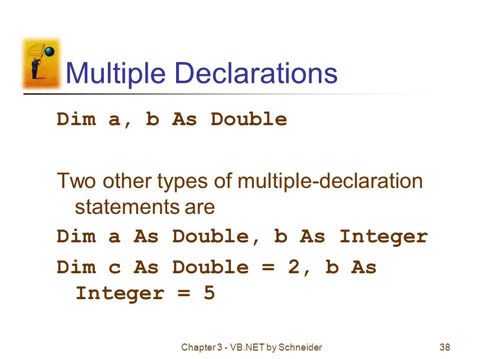 Multiple Declarations