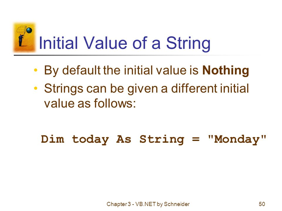 Initial Value of a String