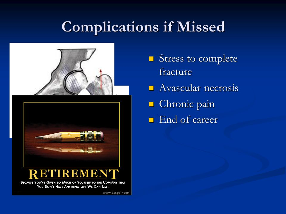 Complications if Missed