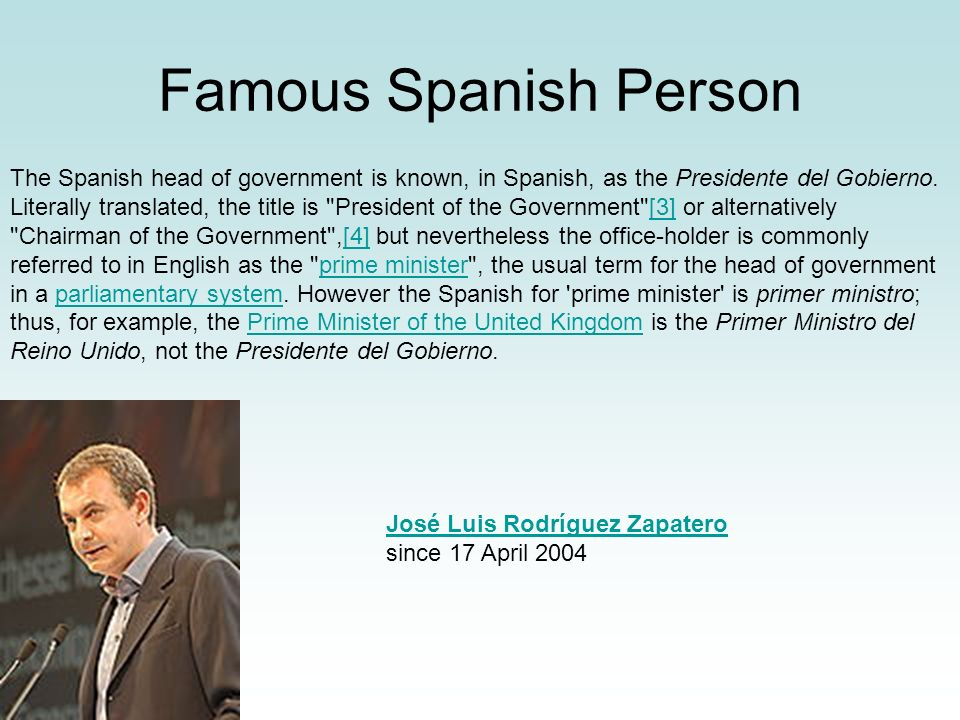 Famous Spanish Person