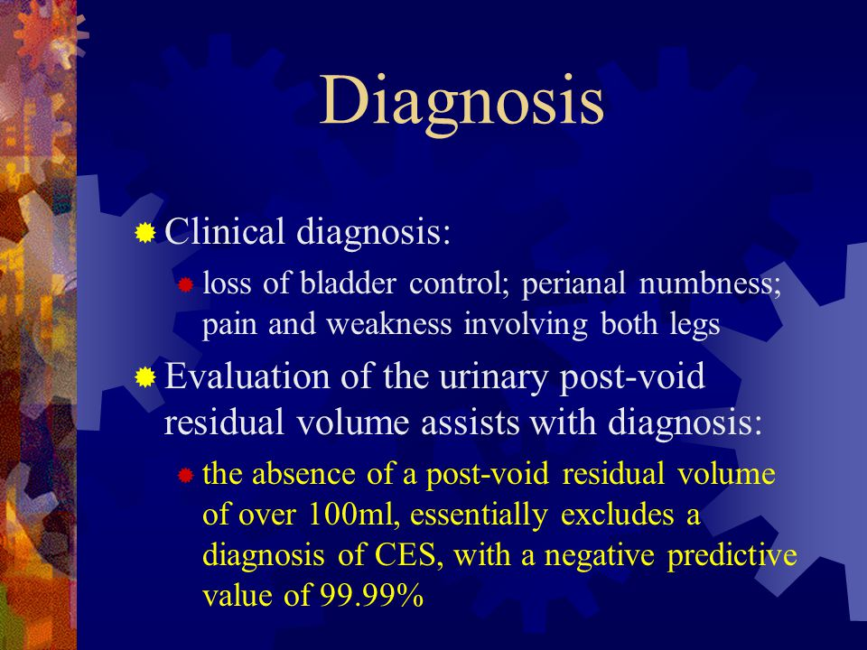 Diagnosis Clinical diagnosis: