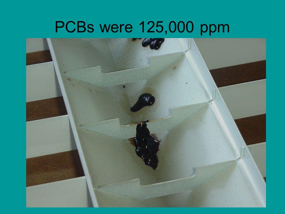 PCBs were 125,000 ppm