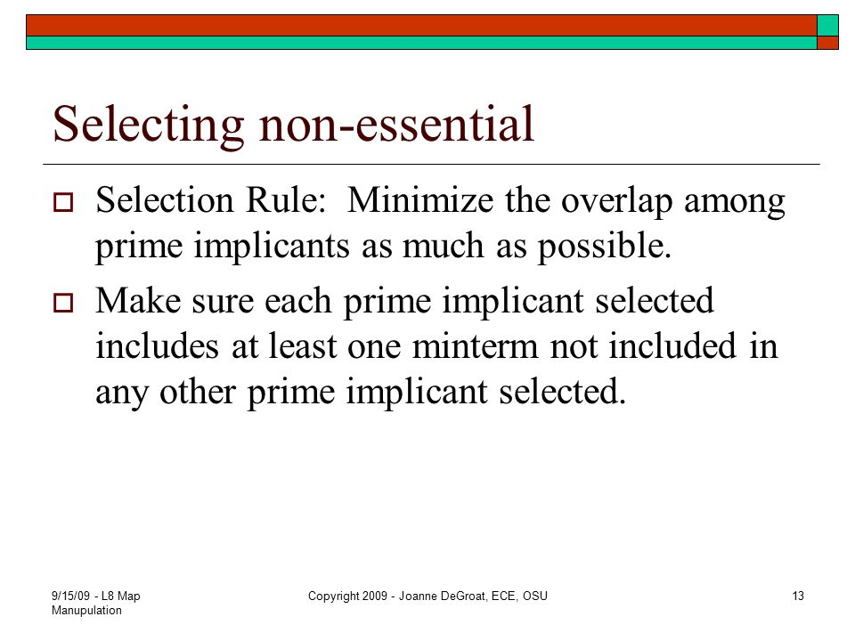 Selecting non-essential