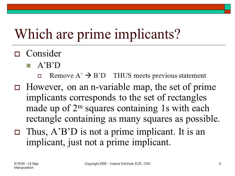 Which are prime implicants