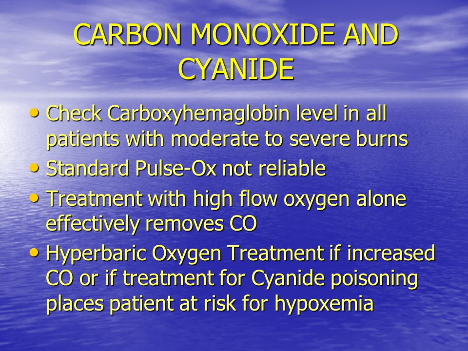 CARBON MONOXIDE AND CYANIDE