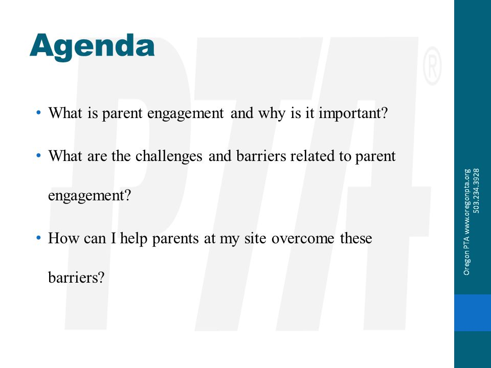 Agenda What is parent engagement and why is it important