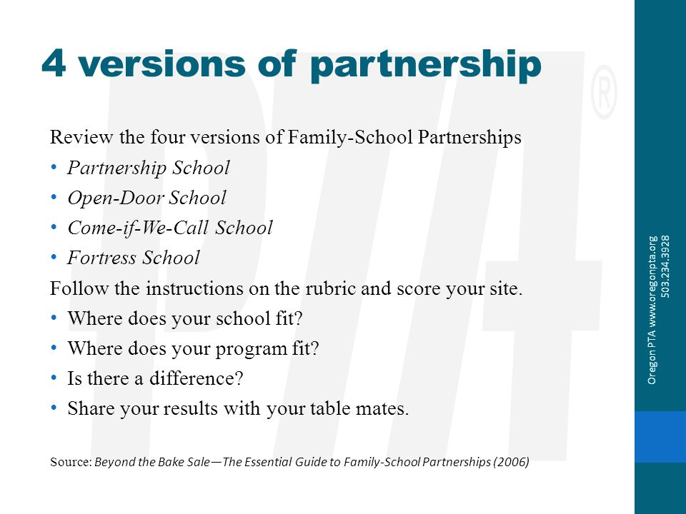 4 versions of partnership