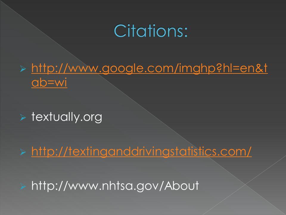 Citations: http://www.google.com/imghp hl=en&tab=wi textually.org