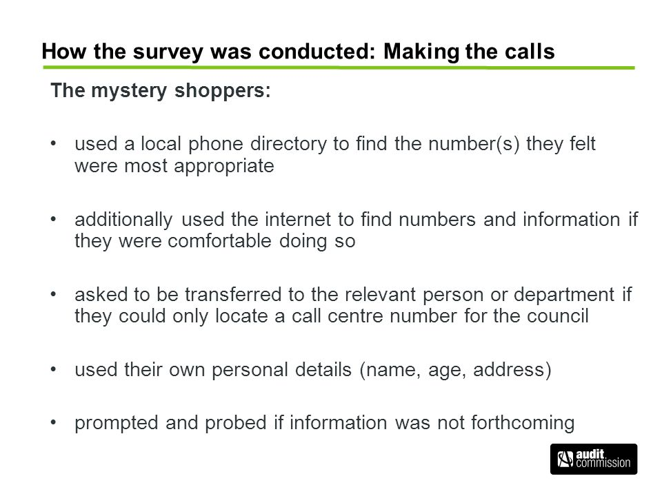 How the survey was conducted: Making the calls